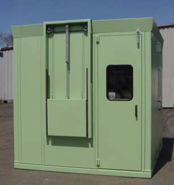 Noise Tamer with Pneumatic Lift Up Door & Custom Enclosures with Automation | Tamer Industries